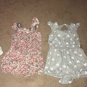 Bundle of girl rompers